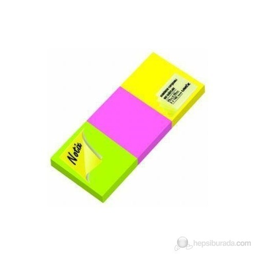 Notix Neon 3'lü 100 Yp. 50x40 mm Yapışkanlı Not Kağıdı (N-N-5040-3-FP)
