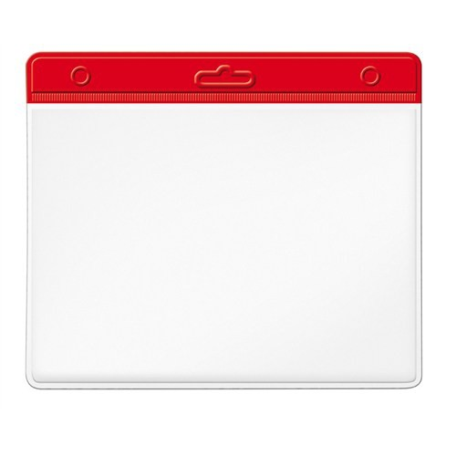 Mas 3510 Plastik Kart Poşeti - Yatay-54X86-Renkli Başlık-Kırmızı 100 Lü