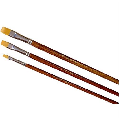 Ponart Yağlıboya Akrilik Yassı Uçlu Altın Toray Fırça 983 - 8