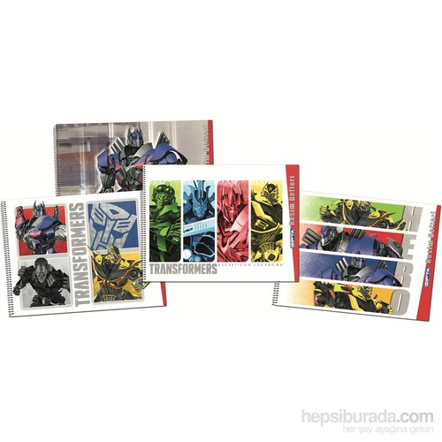 Gıpta 5768 Transformers Spiralli Resim Defteri 17x24 cm 15 Yaprak