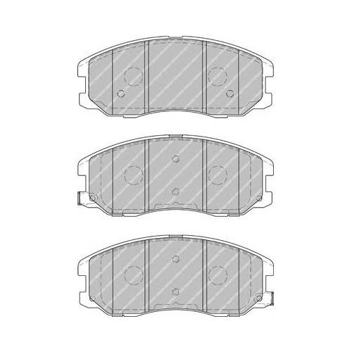 Bsg 16200001 Ön Fren Balata - Marka: Opel - Captıva - Yıl: 07- - Motor: Z20s
