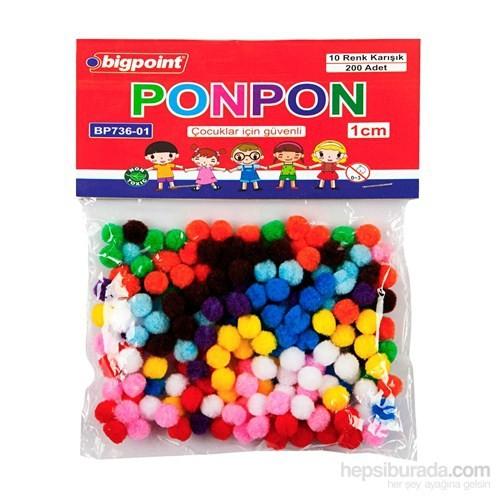 Bigpoint Ponpon 1 Cm 10 Renk 200'Lü