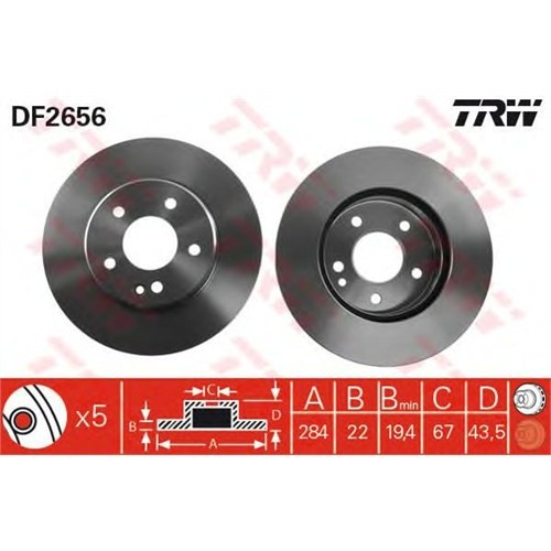 Bsg 60210031 Ön Disk Ayna - Marka: Ml - W202 - Yıl: 93-00 - Motor: Bm