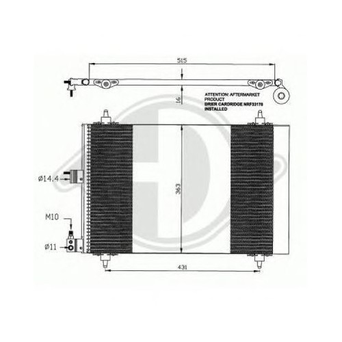 Bsg 70525001 Klima Radyatörü - Marka: Pejo - Berlıngo-2/Partner 1.9 D/Xp/Xs2 1.4 Hdı - Yıl: 09- - Motor: 1,9 Dw8