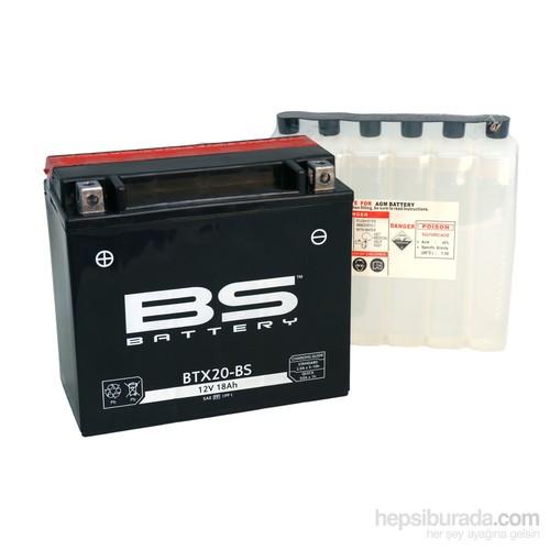 Bs-Battery Btx20-Bs (Ytx20-Bs) 12V 18Ah 270Cca Agm Bakımsız Motosiklet Aküsü
