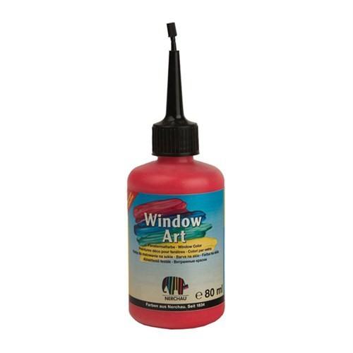 Nerchau Window Art Kırmızı Glitter Cam Boyası