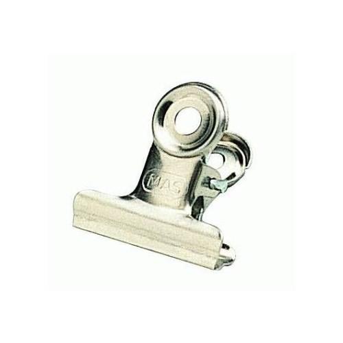Mas Beyaz Metal Kıskaç (Yaylı) 22 Mm - 2 Düzinelik Kutu