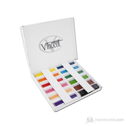 Vincent Trixi Supersoft Renkli Sap Kuru Boya Kalemi 144'lü Karton Kutu Set