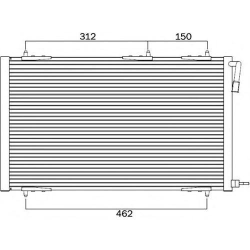 J. Deus 721M50 Klima Kondenseri 206 98> 1.1-1.4-1.6-2.0-1.4Hdı-1.6Hdı (556X364x16)