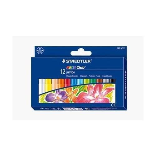 Staedtler Noris Club Jumbo Yağlı Pastel Boya 12 Renk 243 NC12