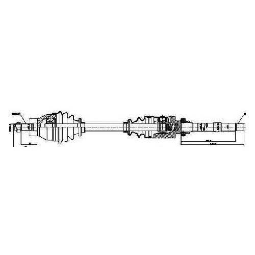 Gsp 210004 Aks Sag Komple Zx - Xsara 1,6 (Dıs Freze: 21, Ic Freze: 22, Boy: 855,5Mm )