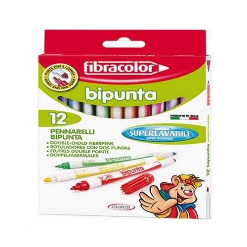 Fibracolor Bipunta 12 Renk Çift Uçlu Keçeli Kalem 10544