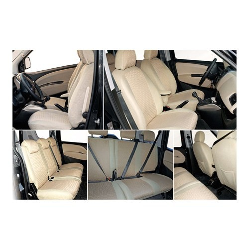Z tech Volkswagen Jetta Krem (Bej) renk Araca özel Oto Koltuk Kılıfı
