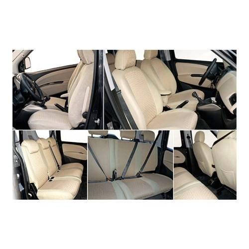 Z tech Volkswagen Polo Classic Krem (Bej) renk Araca özel Oto Koltuk Kılıfı