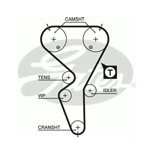 Gates 5458Xs Triger Kayışı (134X254) Cıtroen Saxo Peugeot 106 1.6 16V (96-04) (Mtr.Tu5j4) Ct1065
