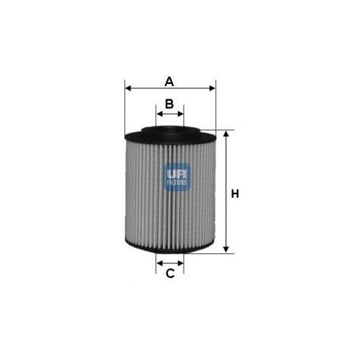 Ufı 2502700 Yağ Filtresi Astra G (00-05)-Astra H (04-)-Corsa C (00-)-Combo (01-)-Merıva (03-10)- 1.7Cdtı-1.7Dtı