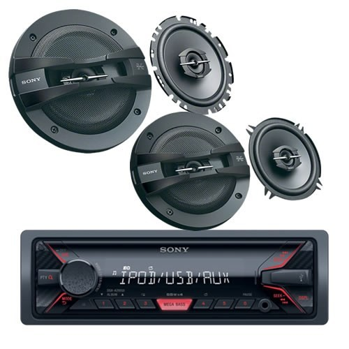 Sony DMR-4038 USB Oto Teyp,13 cm ve 17 cm li Oto Ses Sistemi Seti
