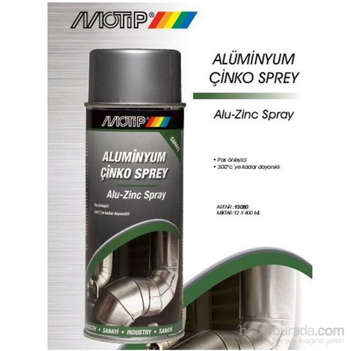 Motip Aluminyum Çinko Sprey 400 Ml. Made in Holland