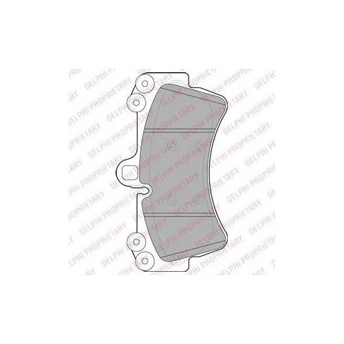 Delphı Lp1997 On Fren Balatası Q7 3,0Tdı Quattro/4,2Fsı Quoattro 03/06-->Cayenne 955 Turbo 09/02--> Touoreg 3,2 V6