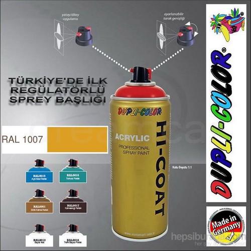 Dupli-Color Hi-Coat Ral 1007 Parlak Kavun Sarısı Akrilik Sprey Boya 400 Ml. Made in Germany 406584