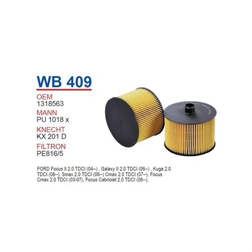 Wunder Ford S - Max 2.0 Tdcı Yağ Filtresi Oem No: 1318563