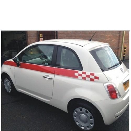 Sticker Masters Fiat 500 Yan Şerit