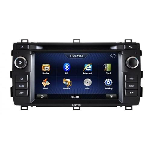 Necvox Dvn -P 1080 Toyota Auris New Platinum Navigasyonlu Multimedya Kamera Dvd Mp3 Tv Anteni Geri Görüş Kamerası