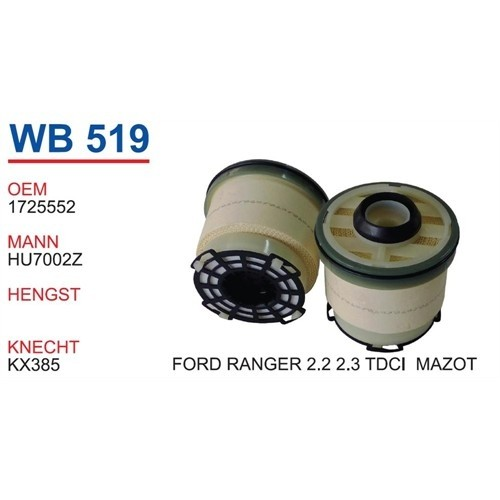 Wunder Ford Ranger 2.2 Tdcı Mazot Filtresi Oem No:1725552