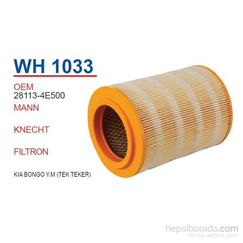 Wunder Kia BONGO Y.M (TEK TEKER) Hava Filtresi OEM NO:28113-4E500