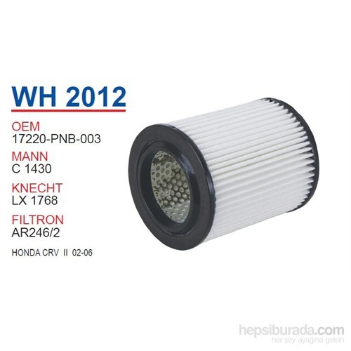 Wunder HONDA CRV II 02-06 Hava Filtresi OEM NO:17220-PNB-003