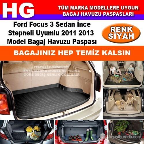 Focus 3 Sedan İnce Stepne 2011 2013 Siyah Bagaj Havuzu Paspası 38795