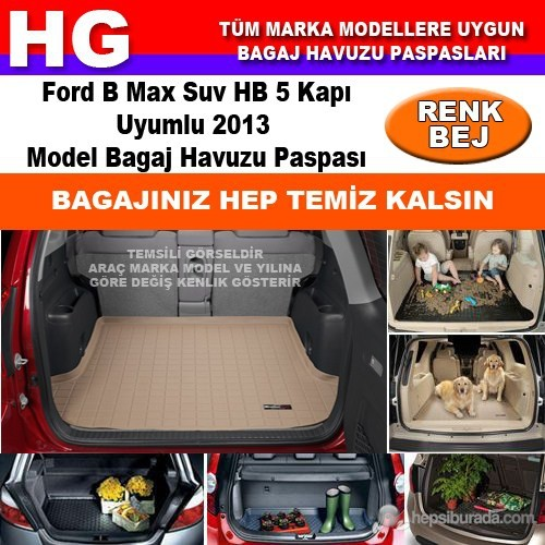 Focus B Max 2013 Bej Bagaj Havuzu Paspası 38800