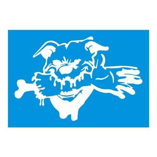 Z tech Vahşi Köpek stickerı BEYAZ (14x20cm)