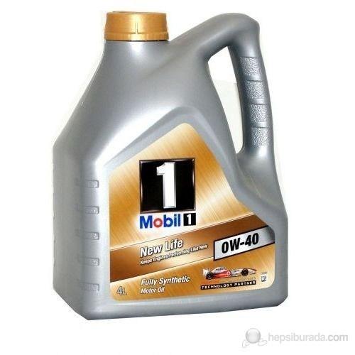 Mobil 1 New Life 0W-40 4lt Benzinli Dizel LPG Motor Yağı