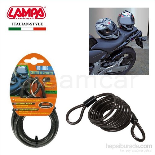 Lampa No-Ride Çelik Güvenlik Halatı 6 mmx160 cm 90611
