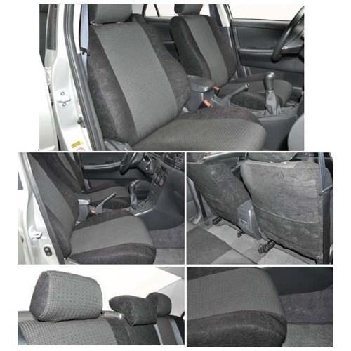 Z tech Volkswagen Caddy 2010 ve sonrası Siyah renk Araca özel Oto Koltuk Kılıfı