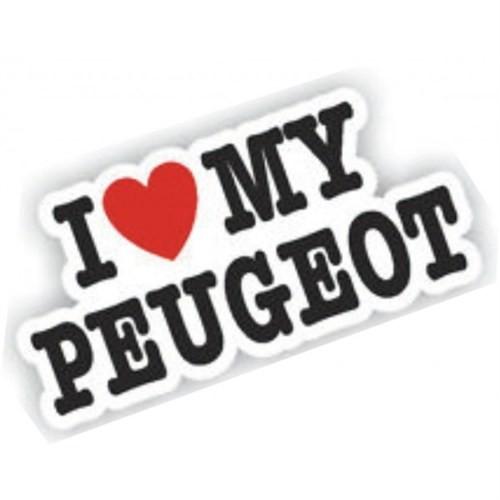 Sticker Masters I Love My Peugeot Sticker