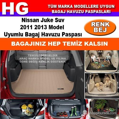Nissan Juke 2011 2013 Bej Bagaj Havuzu Paspası 38941