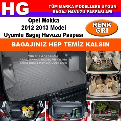 Opel Mokka 2012 2013 Gri Bagaj Havuzu Paspası 38973