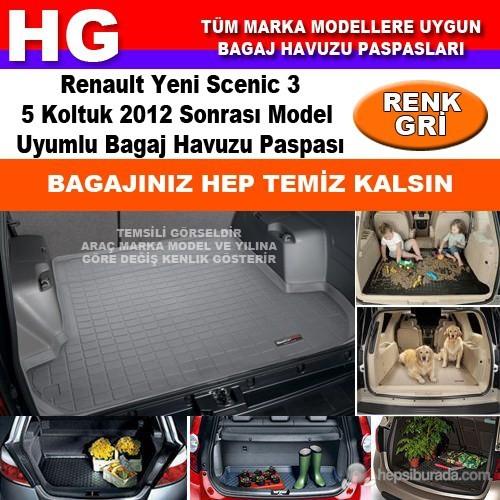 Renault Yeni Scenic 3 2012 Sonrası Gri Bagaj Havuzu Paspası 39023