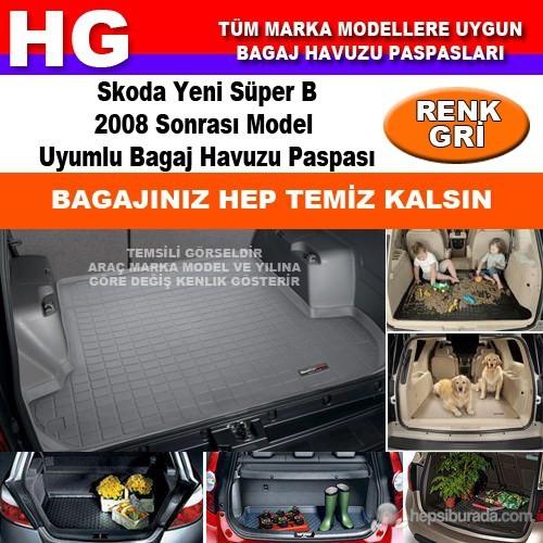 Skoda Yeni Süper B 2008 Sonrası Gri Bagaj Havuzu Paspası 39085