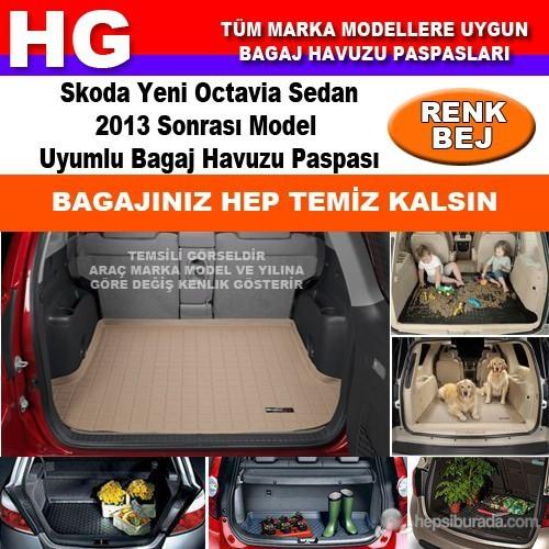 Skoda Yeni Octavia 2013 Sonrası Bej Bagaj Havuzu Paspası 39103