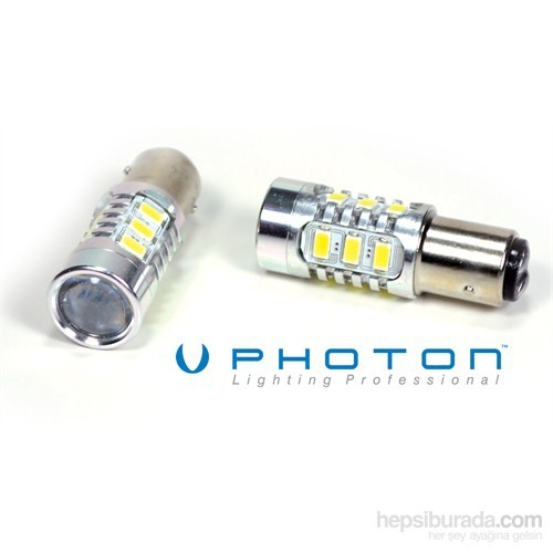 Photon 1016 Tip Çift Duy 12 Beyaz Smd Led Projektör Lens Ampül 85D7210