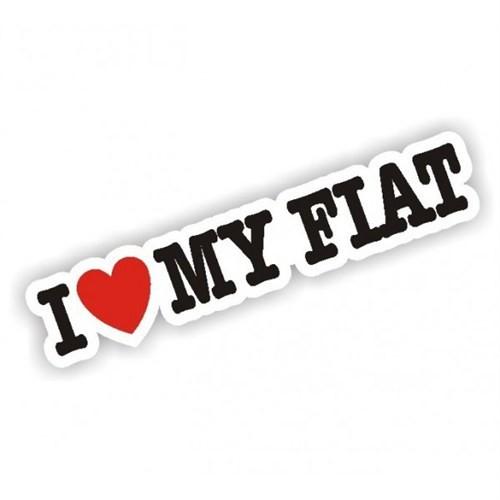 Sticker Masters I Love My Fiat Sticker