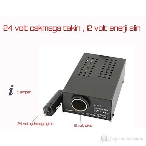ModaCar 5 AMPER 24 Volttan 12 V Çevirici Konvertör 766601
