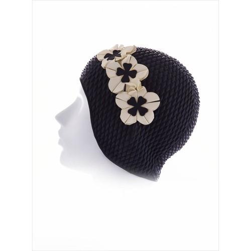 Ayyıldız 3119 Siyah Çiçek İşlemeli Havuz Bonesi