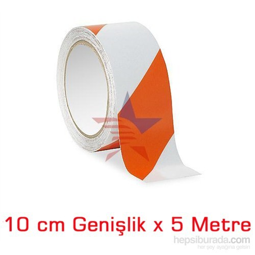 ModaCar BEYAZ/TURUNCU10 Cm Çarpraz Fosfor Bant 548809