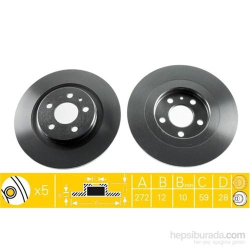 Bosch - Fren Diski Ön [255 / 22-20 Mm], Hava Kanallı (Toyota Corolla Sedan 1.3 12V (75Hp) (93-) - Bsc 0 986 478 578