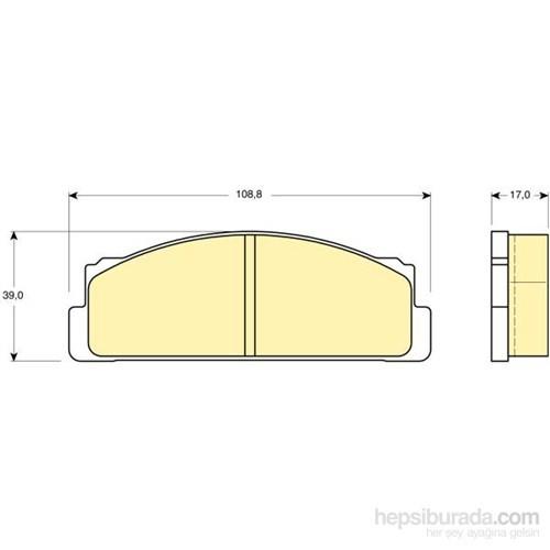Bosch - Fren Balatası Ön M124-M131 Dks-Doğan-Şahin-Kartal-Slx-Tofaş - Bsc 0 986 Tb2 002