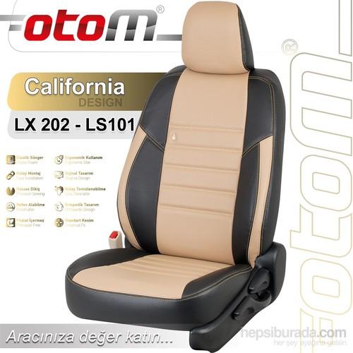 Otom Mıtsubıshı Lancer 2009-2012 California Design Araca Özel Deri Koltuk Kılıfı Bej-101
